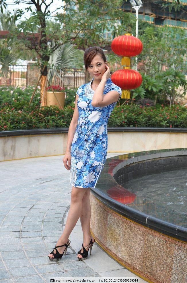 旗袍美女 气质美女 古典美女 优雅美女 性感美女 美腿 模特 高跟 端庄