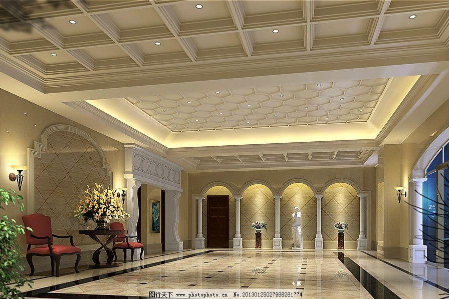 欧式门厅 门厅 欧式        设计 室内设计 环境设计 源文件 300dpi
