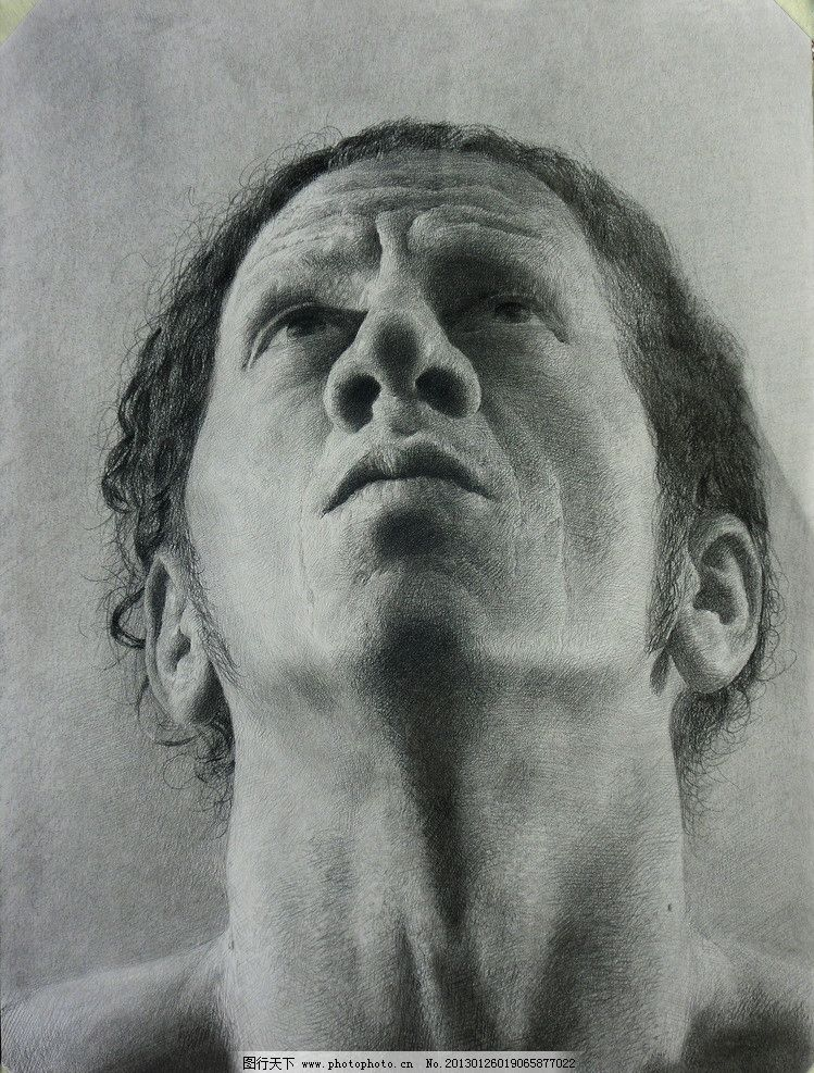 超写实素描大鼻子图片