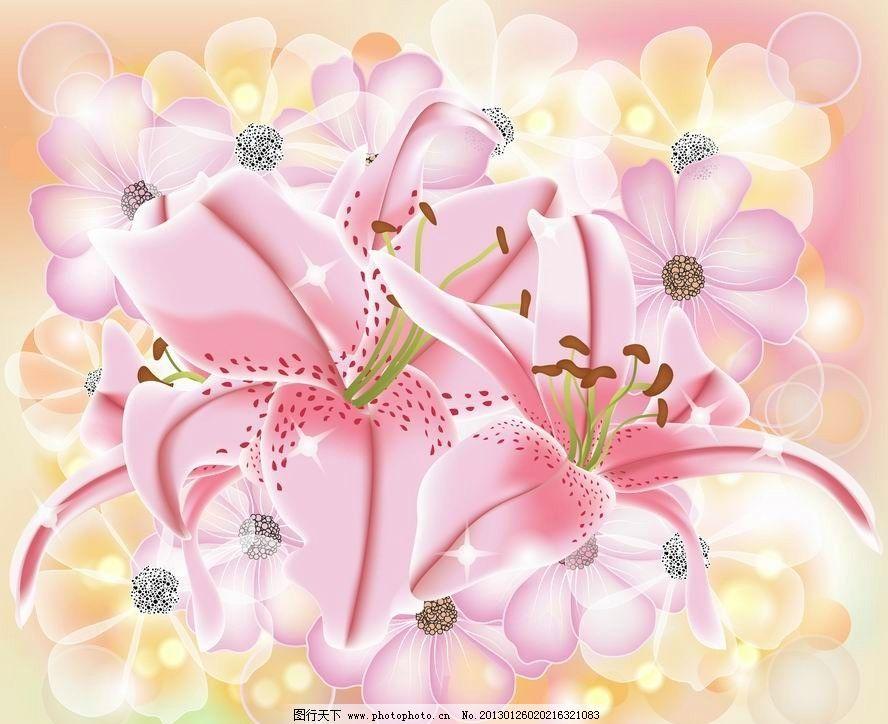 粉色鲜花花朵 花卡图片