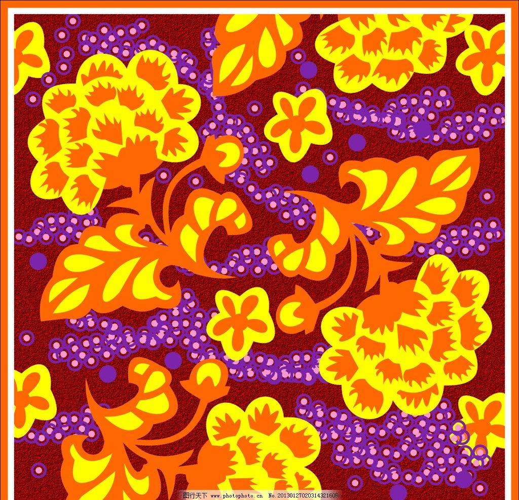 经典牡丹花装饰纹样图片