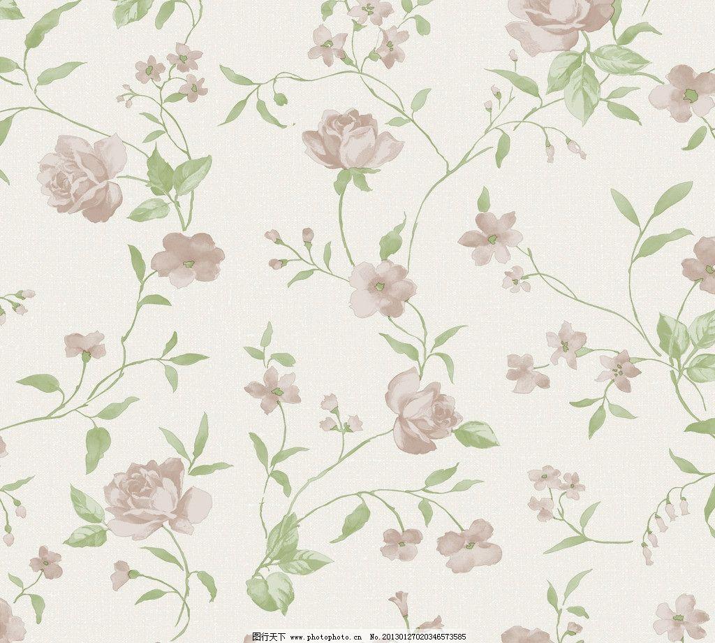 朦胧藤条壁纸 田园风 撇丝花 平块花 手绘花 藤条花壁纸 花边花纹