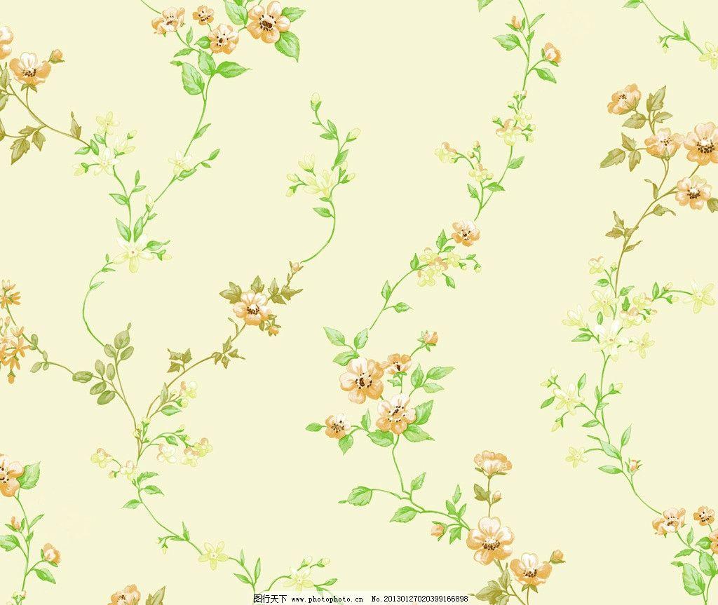 田园风 壁纸 藤条 手绘花 藤条花壁纸 花边花纹 底纹边框 设计 254dpi