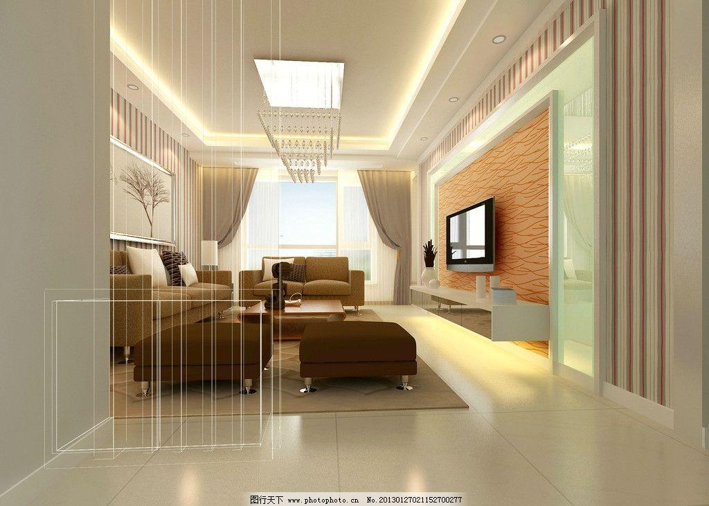 客厅效果图      影视墙        抛晶砖 电视背景墙 电视背景 吊顶 3d