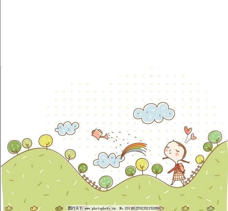 卡通画 男孩 女孩 贴纸插图 儿童插图 插画 无框画 卡通素材 边框相框