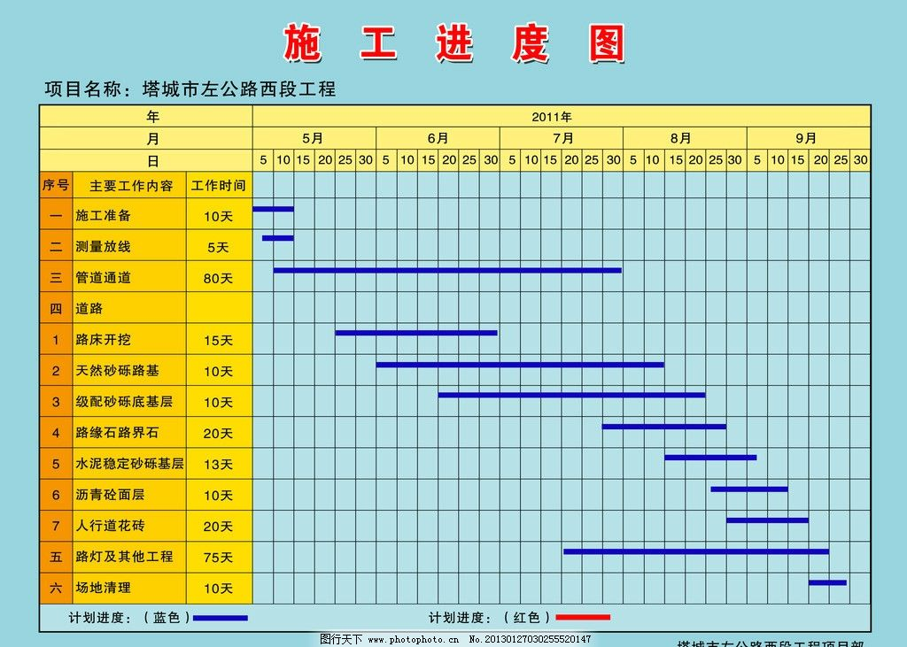 施工进度表 建筑 工地 建筑工地 展板模板 广告设计模板 源文件 72dpi