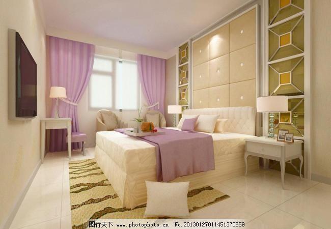 卧室效果图 背景墙 床头 父母 家装效果图 软包 软包背景墙 卧室效果