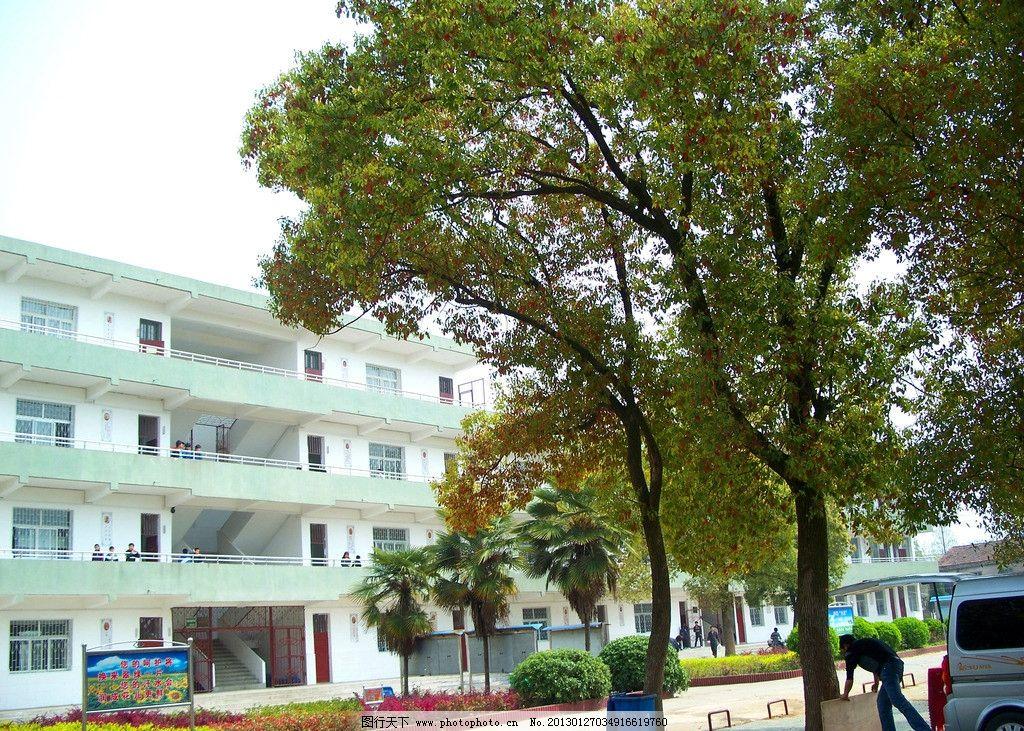 校园摄影 学校 初级中学 农村学校 小学 初中校园 操场 教学楼 绿地