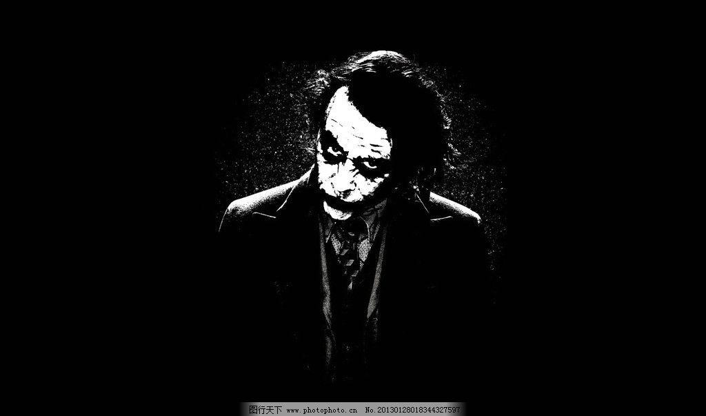 设计图库 动漫卡通 动漫人物  小丑 影视 电影 角色 蝙蝠侠之暗夜骑士
