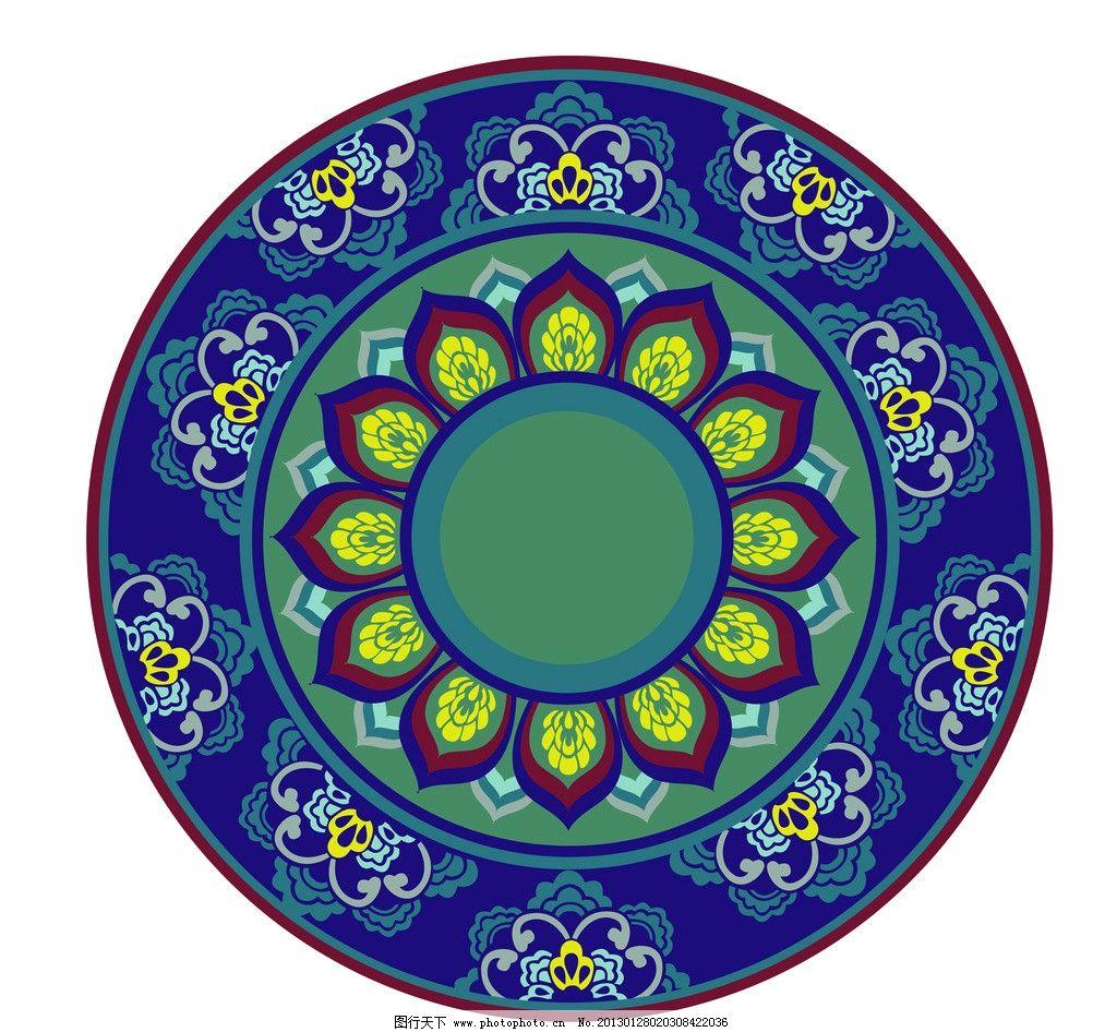 圆盘花纹图片