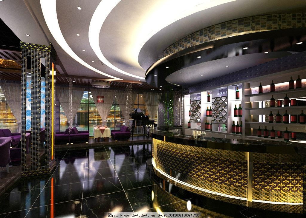 酒店(餐饮)吧台图片_3d作品设计_3d设计_图行天下图库