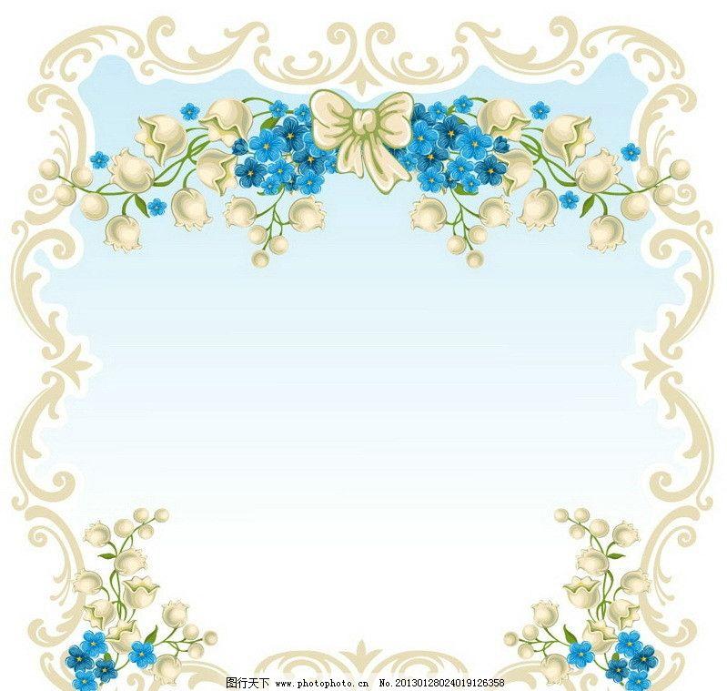 春天的鲜花花纹 边框图片