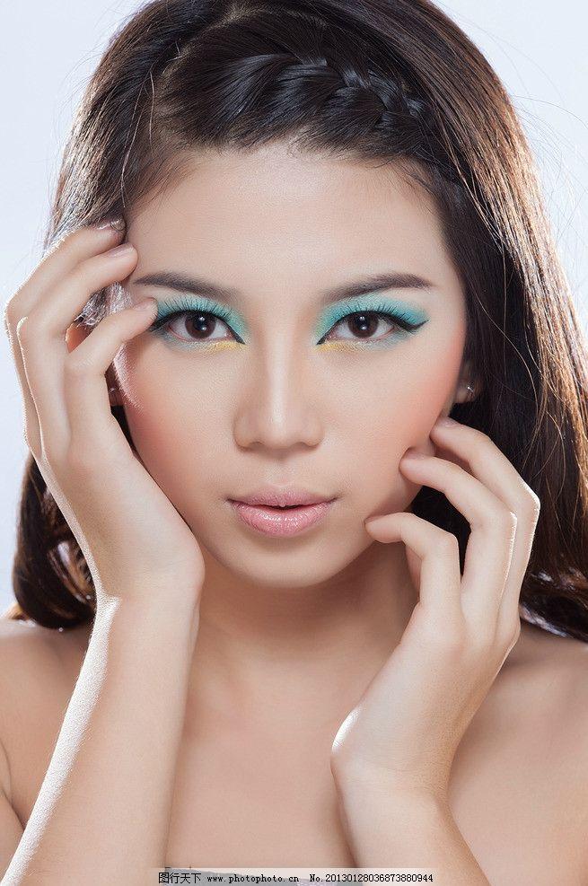 彩妆美女 气质美女 唇彩 眼影 妆面 高清美女 女性女人 人物图库 摄影