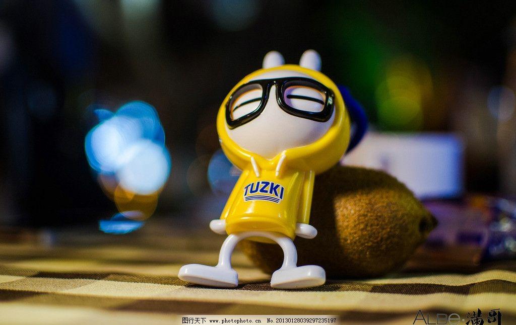 兔斯基 黄色 眼镜 可爱 肯德鸡 搞笑 近影 摄影