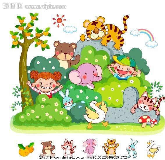 动物乐园彩铅画