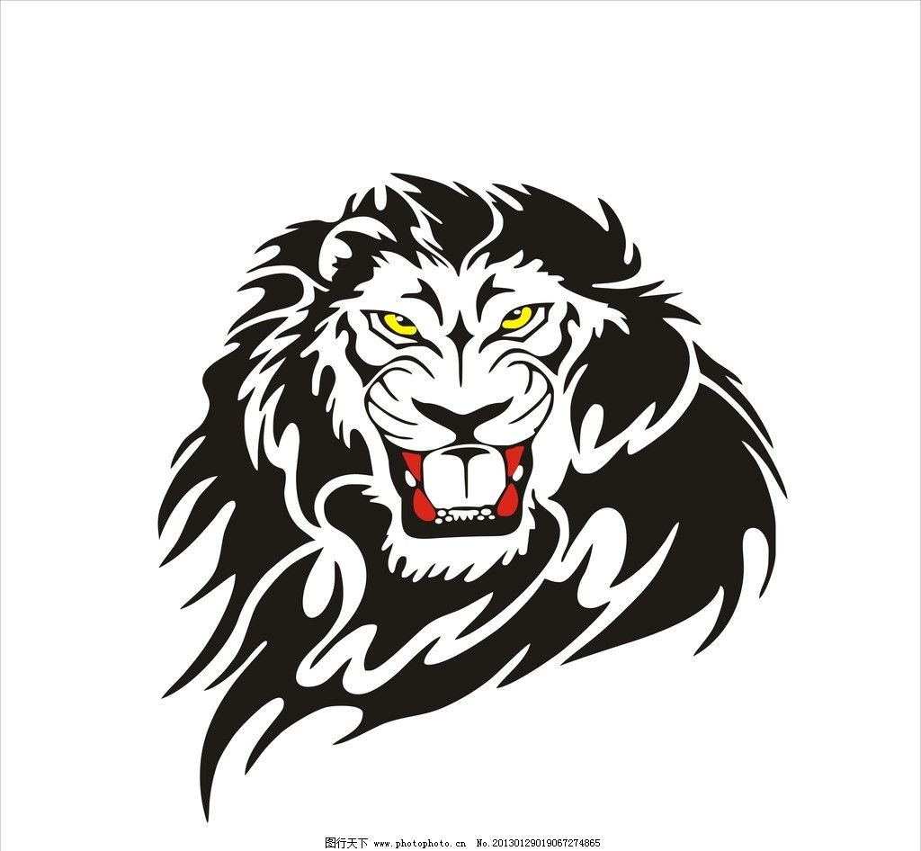 狮子 狮头 美术绘画 文化艺术 矢量 cdr