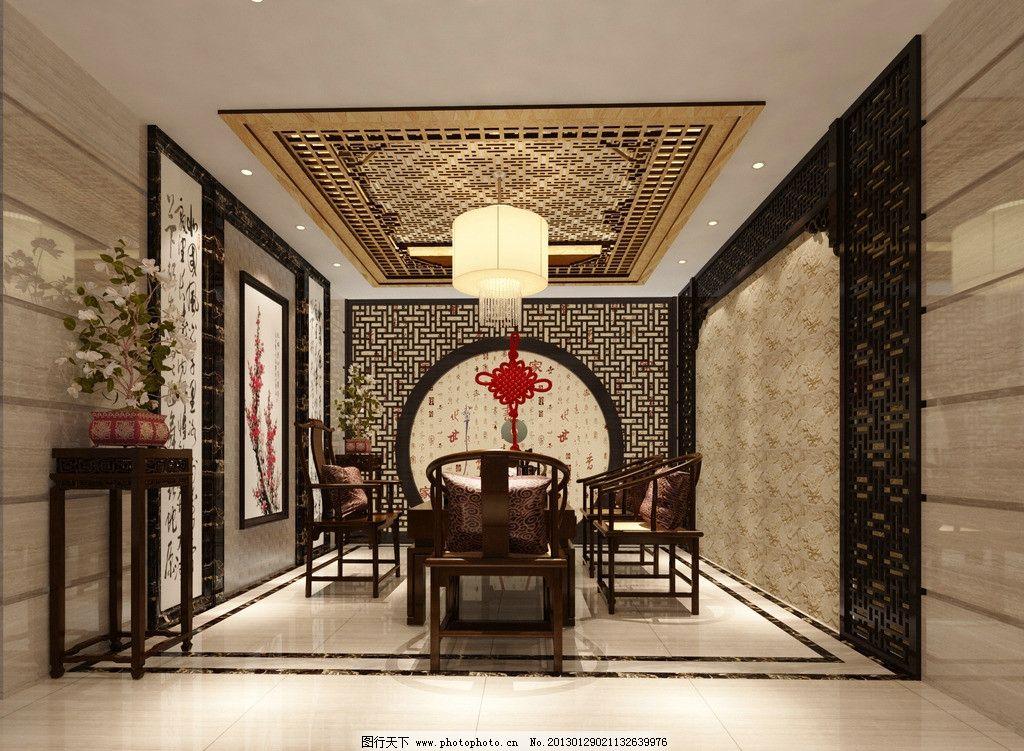 中式茶室装修设计图