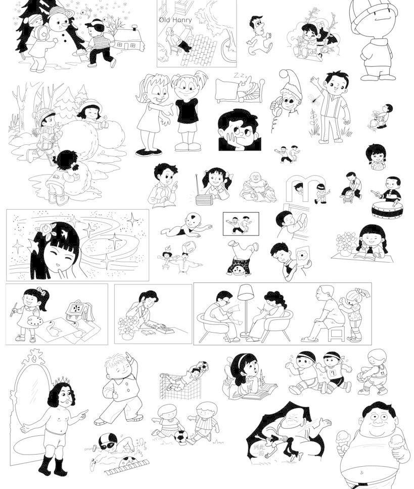 卡通人物简笔画图片