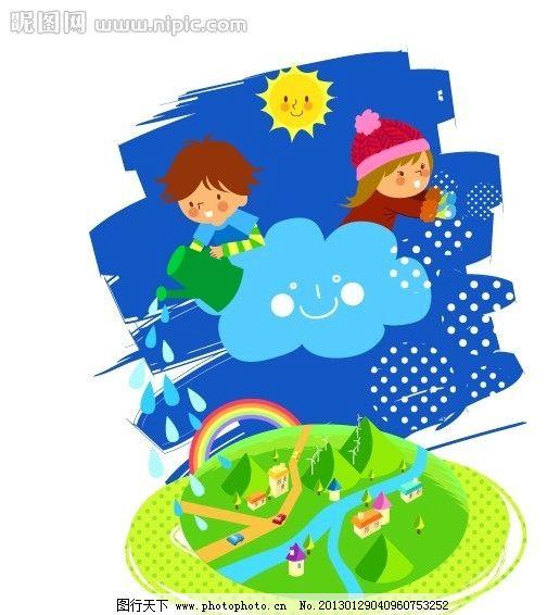 儿童环境插画图片