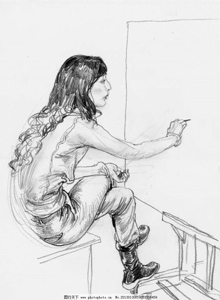 速写 人物 素描 绘画书法 文化艺术 设计 300dpi jpg