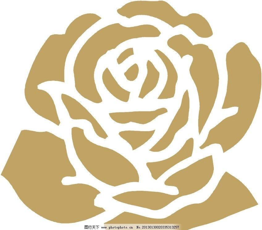 玫瑰花 花 矢量玫瑰 花纹花边 底纹边框 矢量 cdr