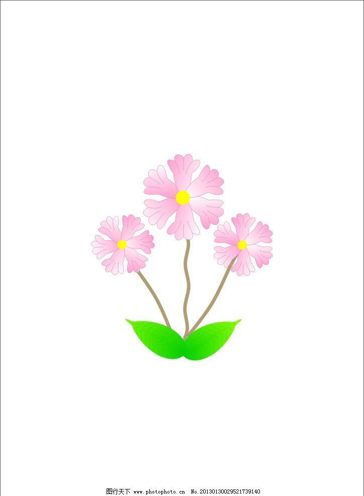 手绘小红花 矢量 幼儿园小红花 cdr 卡通花 广告设计