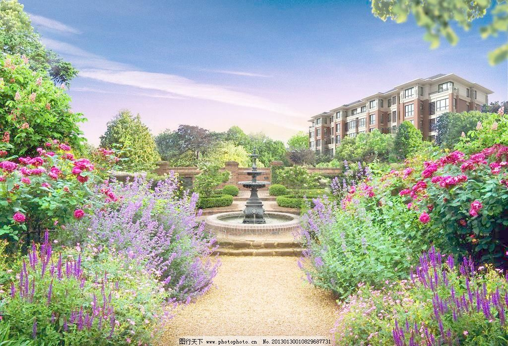 欧式花园洋房图片