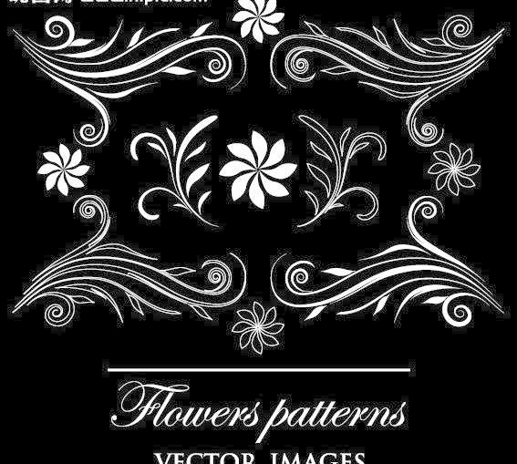 时尚简约欧式花纹矢量素材