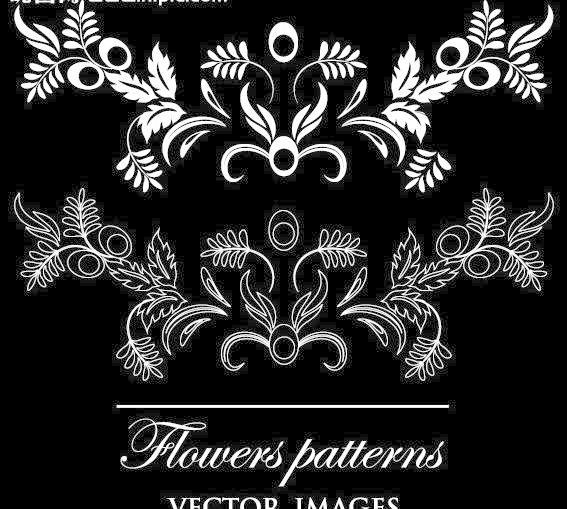 潮流 传统 底纹背景 底纹边框 对称 复古 时尚简约欧式花纹矢量素材