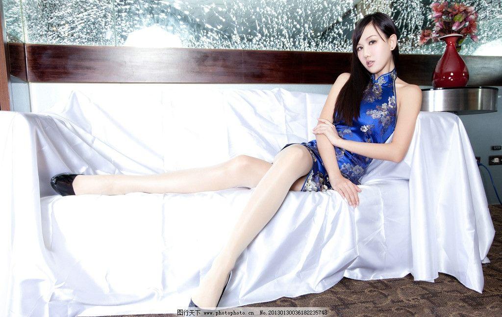 美女 旗袍 古装 丝袜美腿 丝袜模特 内衣模特 模特 美女模特 性感模特