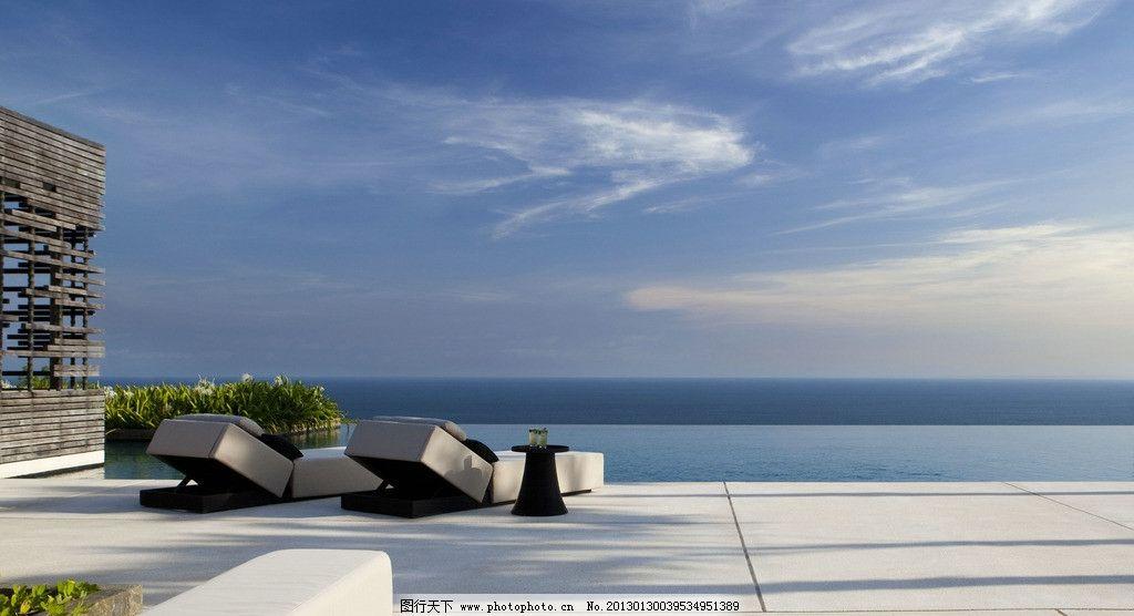 海边别墅游泳池 别墅 装修装潢装饰 精装 豪华 豪宅 奢华 美景 大海