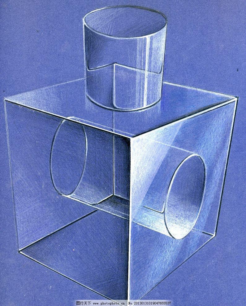 工业设计手绘淡彩草图 马克笔 周波 色粉 淡彩 快题 设计 手绘 圆柱