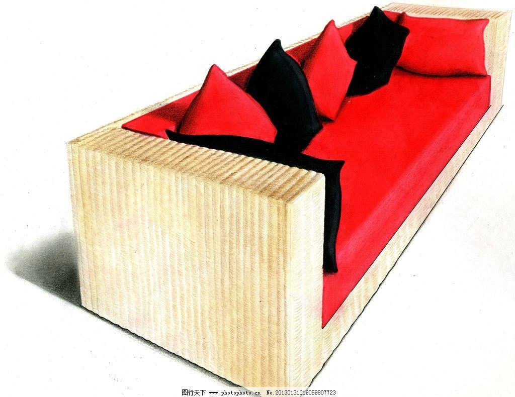 设计手绘淡彩草图 马克笔 周波 色粉 淡彩 快题 手绘 工业设计 沙发