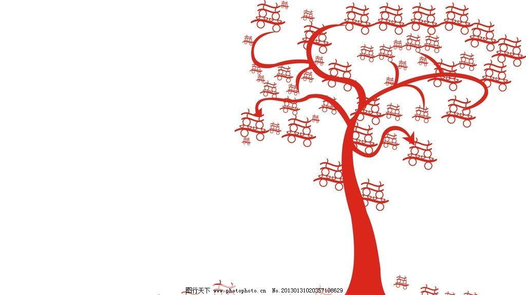 纹样 双喜树 雕刻纹 底纹 角纹 边纹 花纹花边 底纹边框 矢量 cdr