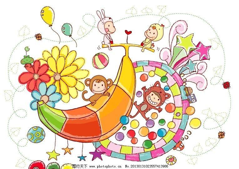贴纸插图 儿童插图 插画 卡通素材 矢量风景 矢量人物 矢量动物 彩铅