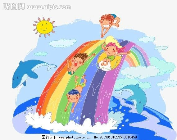 儿童彩铅画风景 手绘