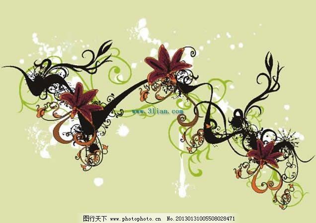 植物欧式花纹素材