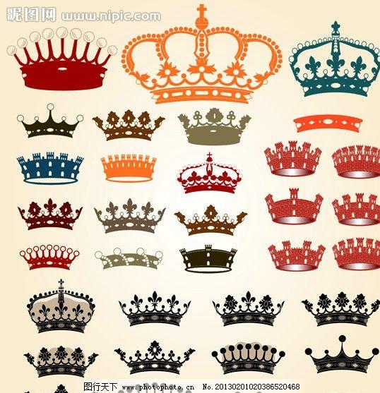 皇冠图案 皇冠背景素材 手绘 装饰 设计 矢量 eps 花纹花边 底纹边框