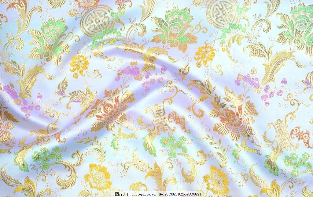 丝绸 花纹刺绣 布 丝绸布纹 吉祥布纹 绸缎 绸缎丝滑 布料 面料 中国