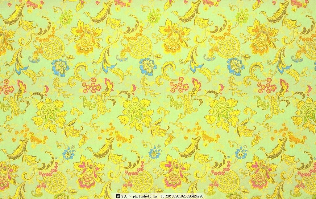 黄色丝绸 花纹刺绣 丝绸布纹 丝绸 褶皱 吉祥布纹 绸缎 绸缎丝滑 布料