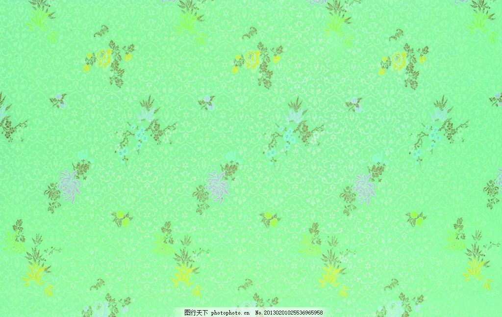 印花布 花纹刺绣 绿色丝绸 丝绸布纹 丝绸 吉祥布纹 绸缎 绸缎丝滑