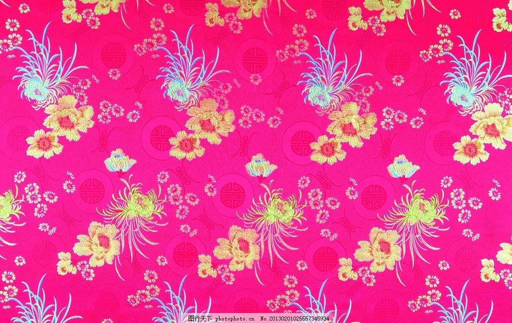 花纹刺绣 花纹丝绸 丝绸布纹 菊花刺绣 老式布料 丝绸 吉祥布纹 绸缎