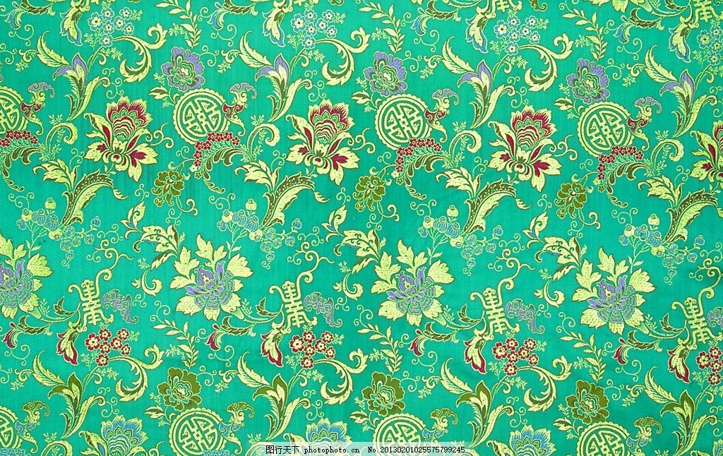 宫廷布纹 花纹刺绣 花纹 图案 蓝色丝绸 丝绸布纹 丝绸 吉祥布纹 绸缎