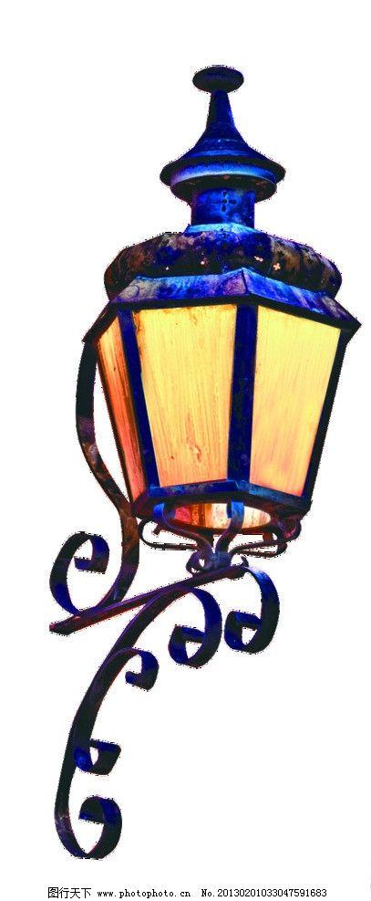 手绘壁灯 插图 欧式路灯 源文件