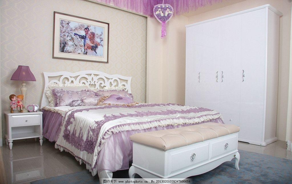 卧室家具 装饰 家居 床灯 环境 生活 广告 照片 衣柜 床头柜