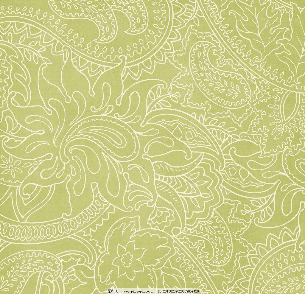华丽线描花朵方巾背景图片_花边花纹_底纹边框_图行