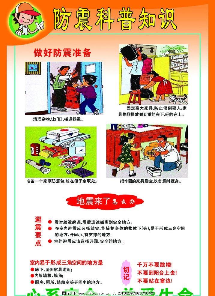 防震知识展板图片