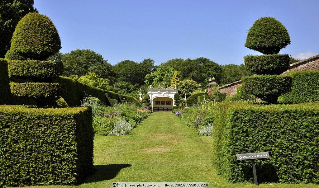 宫殿园林 欧洲园林 草地 花圃 宫廷花园 宫廷园林 园林美景 欧式园林