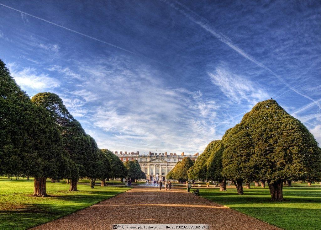 园林景色 园林风景 宫殿园林 欧式园林 欧式花园 古堡建筑 欧洲园林