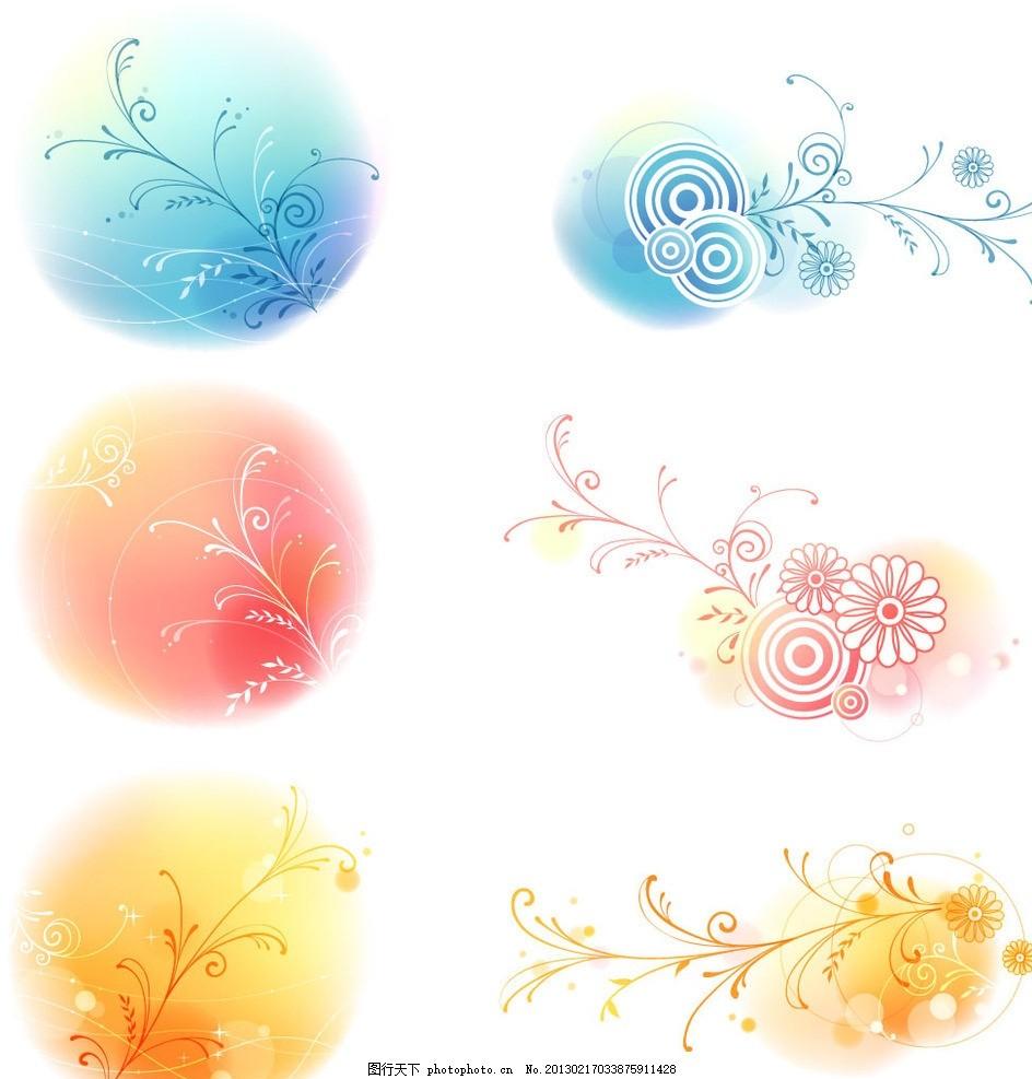 韩国元素花纹 韩国花纹 韩式花纹 花朵 手绘花 素雅 精美花纹
